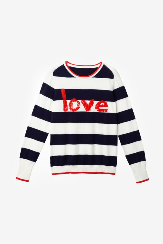 Stripes and Lettering Jumper Love | Desigual