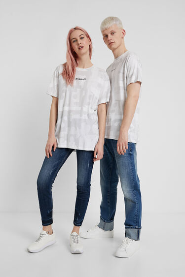 No gender camouflage T-shirt | Desigual