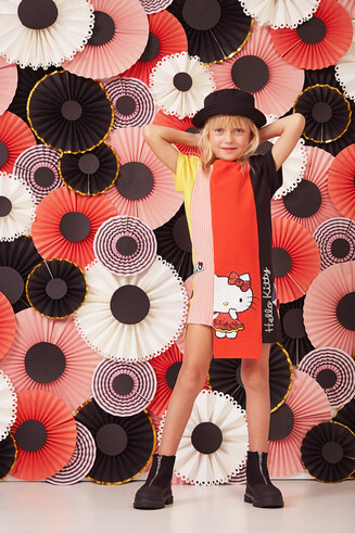 Asymmetrisches Hello Kitty Kleid