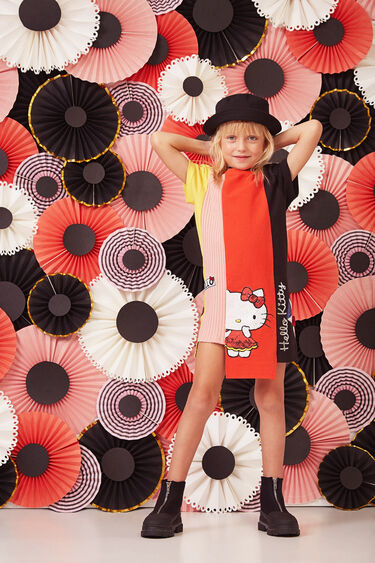 Hello Kitty asymmetrical dress   Desigual