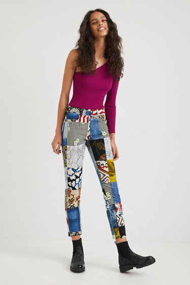 Pantalon slim jean & patch | Desigual