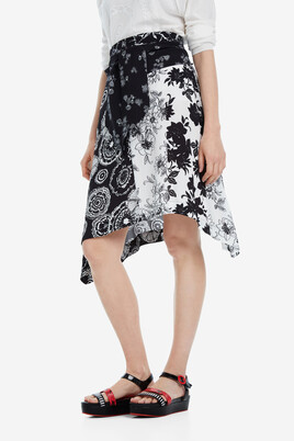 Floral skirt with side-tie Paola