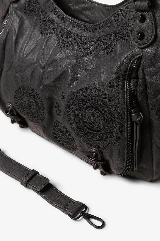 Kunstledertasche mit Mandalas | Desigual