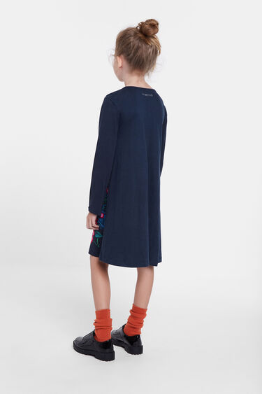 Vestido camiseiro bordado   Desigual