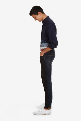 Blaue Basic-Jeans Oriol