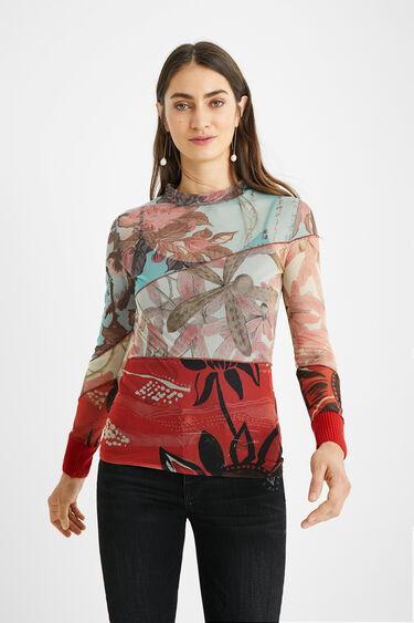 Obcisła bluzka z kwiecistym nadrukiem | Desigual