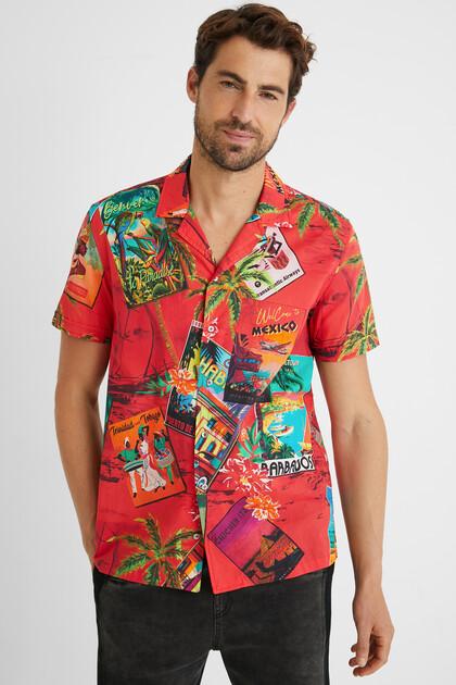 Hawaii-Hemd 100% Baumwolle