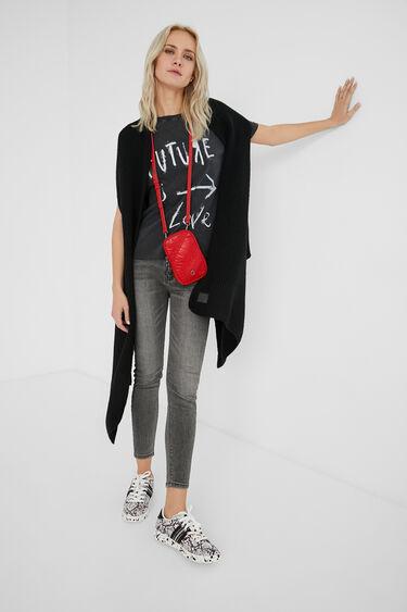 Rectangular sling bag coin purse | Desigual
