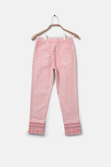 Pantalon slim chevilles brodées | Desigual