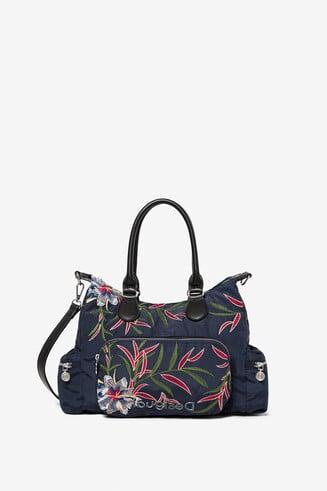 ポケット付き 花柄バッグ