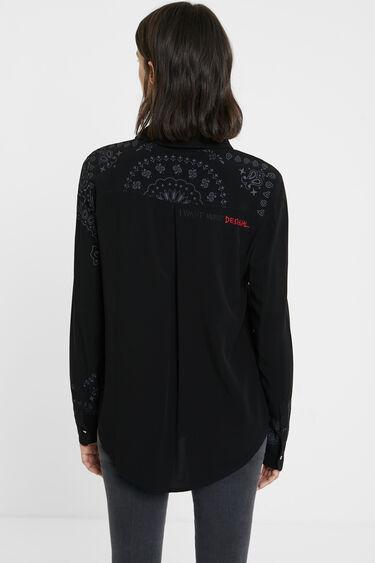 Loose fit ethnic crepe shirt | Desigual