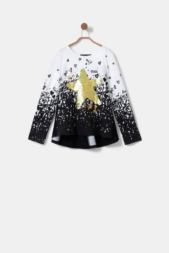 T-shirt reversible sequins | Desigual