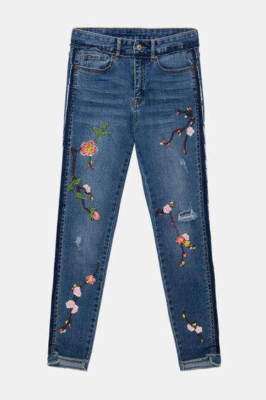 Cropped denim trousers | Desigual