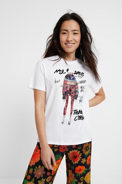 T-shirt lantejoulas 100% algodão