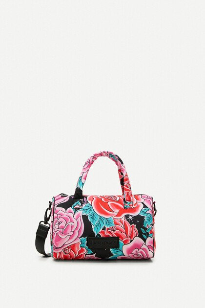 Mini briefcase small bag flowers