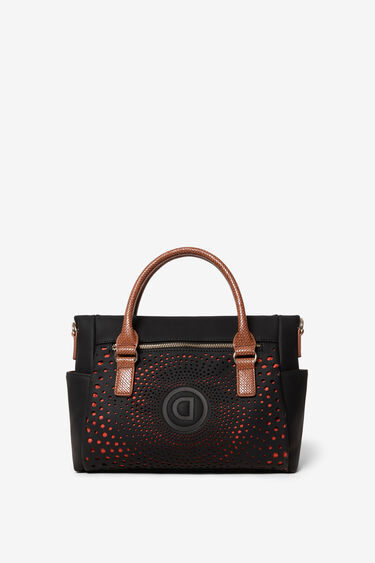 Bag with logo and geometric spiral | Desigual