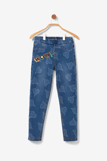 Basic jeggings denim hearts | Desigual
