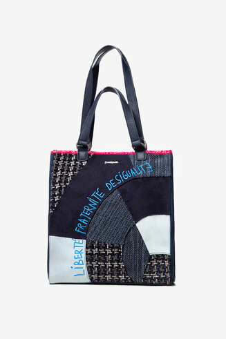 Shopping bag patch preto