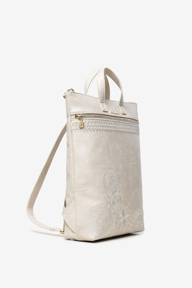 Brown Leather-Effect Backpack Baza | Desigual