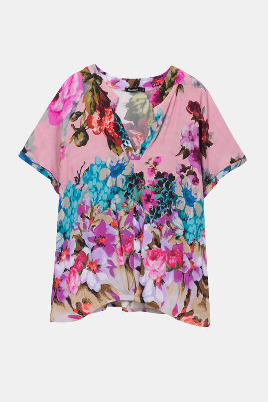 Loose fit viscose blouse with V-neck Designed by M. Christian Lacroix | Desigual