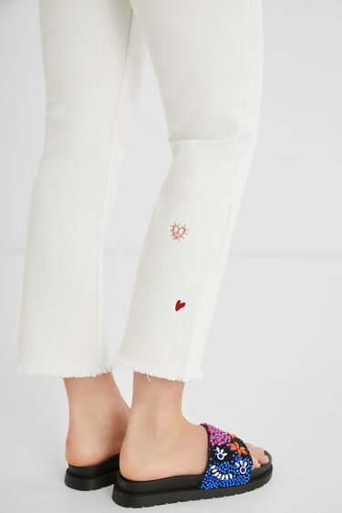 Straight cropped trousers | Desigual