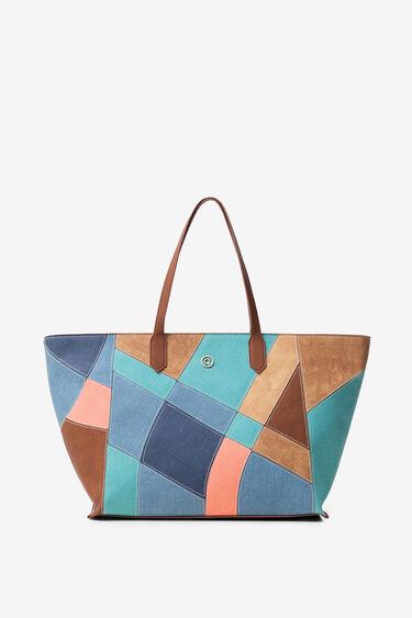 Suede and patch big bag | Desigual
