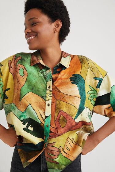 Short oversize shirt Tencel | Desigual