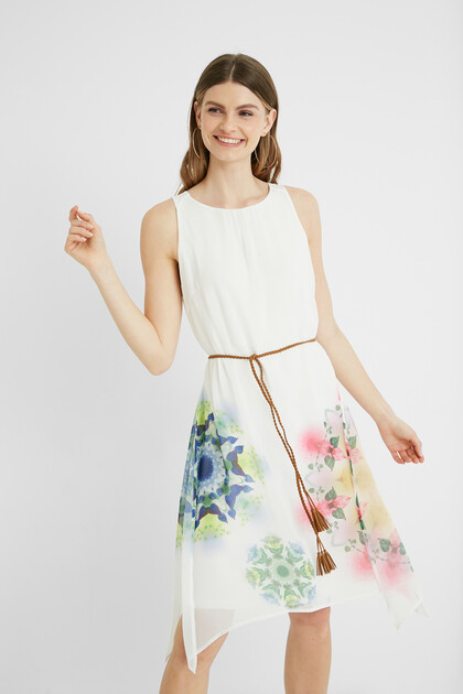 Dress with side openings