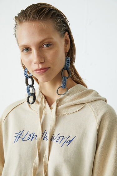 Kurzer Sweater aus recycelter Baumwolle | Desigual