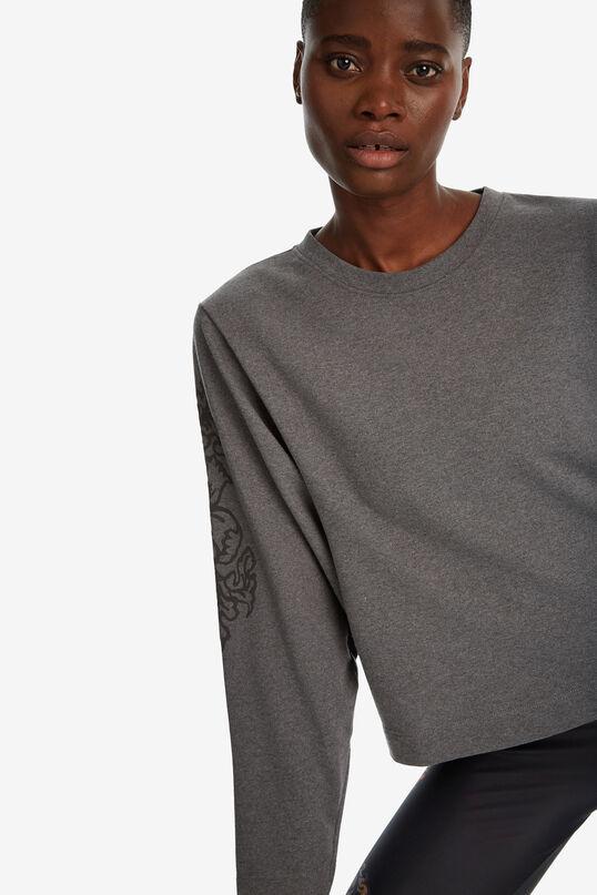 Dessuadora de cotó mànigues patch | Desigual