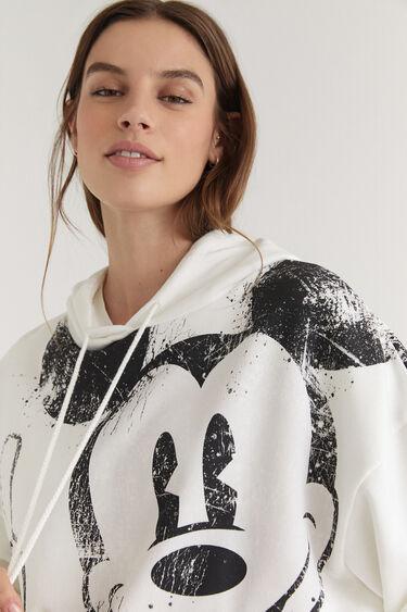 Sweat-shirt capuche coton imprimé | Desigual
