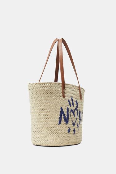Printed basket tote bag | Desigual