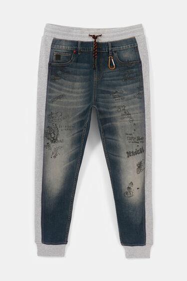 Hybrid denim bolimania trousers | Desigual
