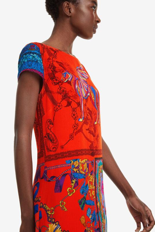 Robe rouge avec patchwork Koda | Desigual