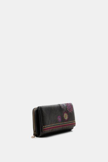 Portefeuille rectangulaire rabat brodé | Desigual