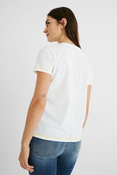 T-shirt patch Paisley 100% coton | Desigual