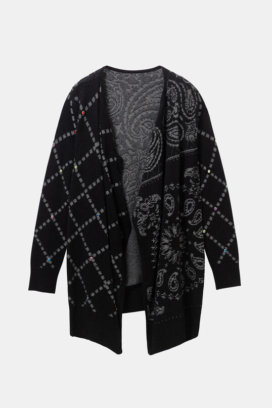 Poncho-style open jumper | Desigual