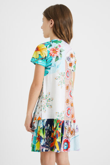 Robe patch floral volant | Desigual