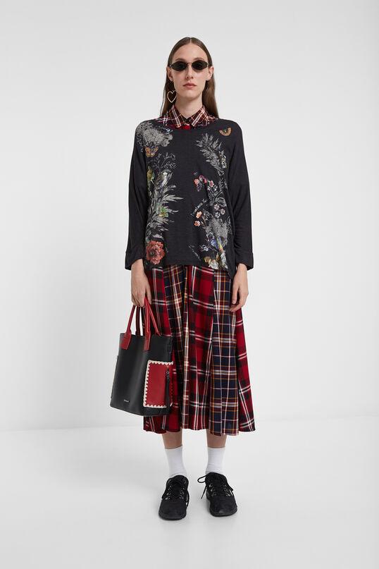 Camiseta oversize floral   Desigual