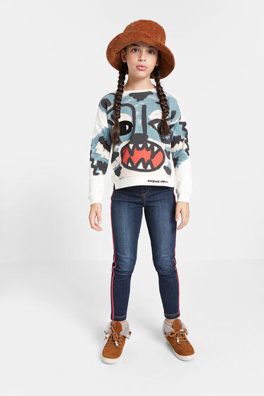 Printed cotton jumper | Desigual