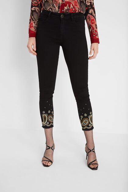 Skinny ankle grazer jeans