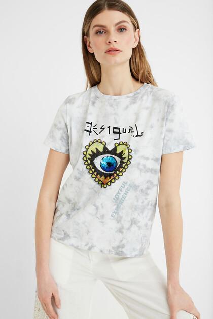 T-shirt met hart en teksten