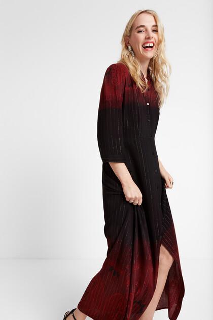 Lange blousejurk