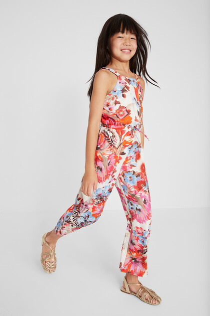 Long jumpsuit with straps