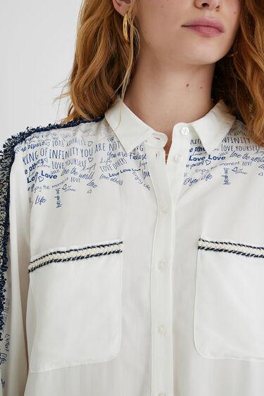 Shirt friezes messages | Desigual