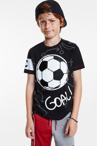 T-shirt football paillettes