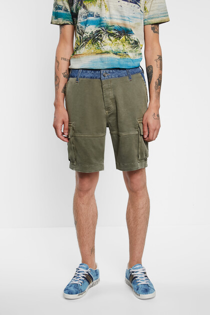 Short cargo trousers hybrid