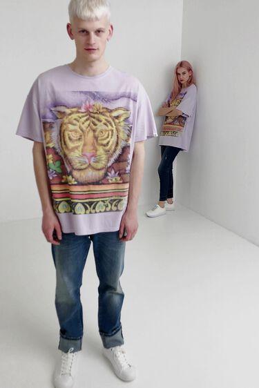 Unisex Hindu T-shirt with tiger | Desigual