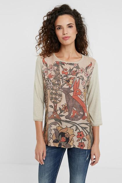 T-Shirt mit exotischen Tieren