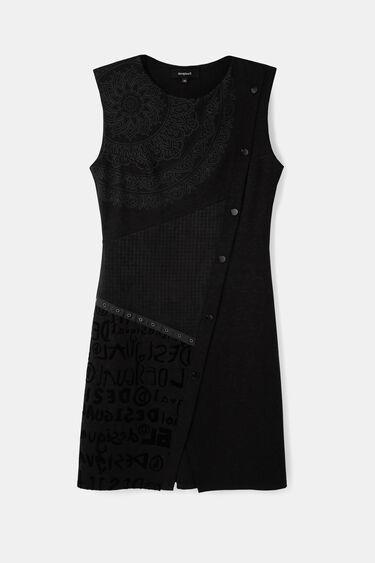 Slim houndstooth dress | Desigual